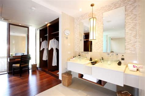 dressing room and bathroom design modern bathroom with wardrobe and dressing table