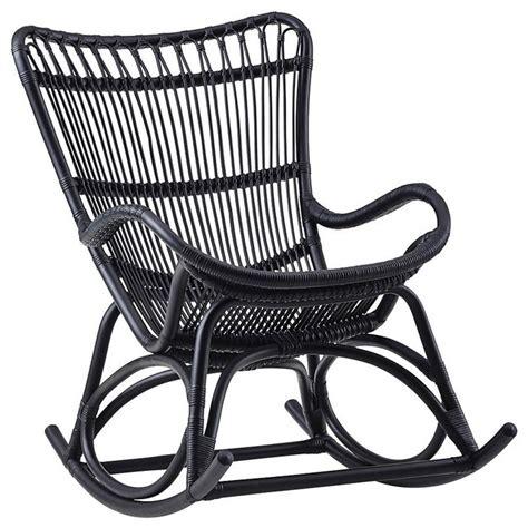 Black Wicker Rocking Chair Outdoor by Monet Indoor Rattan Rocking Chair Matte Black
