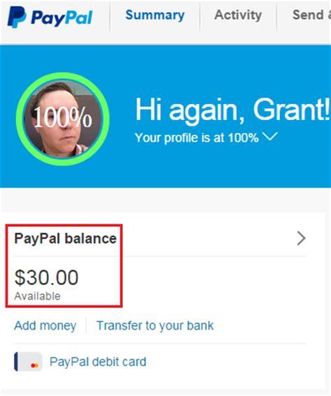 Paypal Gift Card Balance - 30 paypal balance