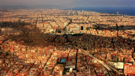 barcelona aerial view barcelona stock footage video shutterstock
