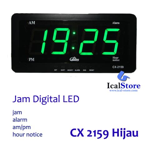 Led Jam Digital jam dinding digital led tipe 2159 hijau ical store