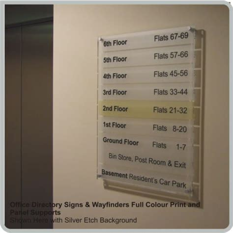 Apartment Building Names Directory Acrylic Office Directory Signs Lobby Signs Custom Made