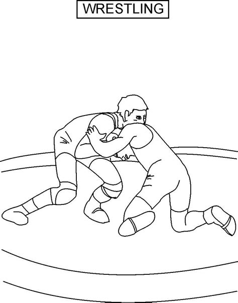 Wrestling Printable Coloring Pages Wrestler Coloring Pages