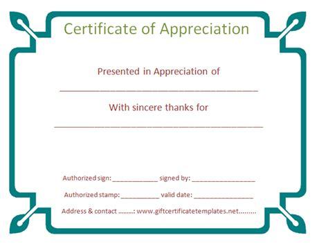 free sle volunteer appreciation certificate just b cause