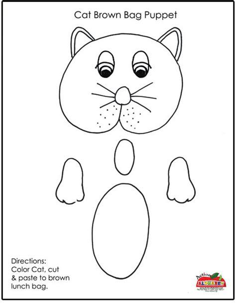 paper bag cat puppet pattern cat puppet