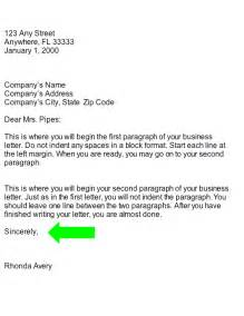 Business Letter Endings we hope closing business letter part of business letter are solution