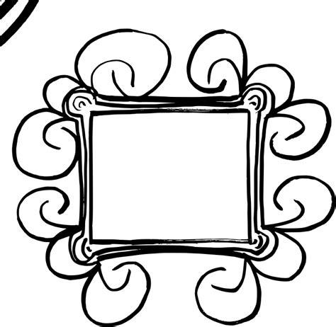 Flourish Frame Outline by Clipart Flourish Ds 1