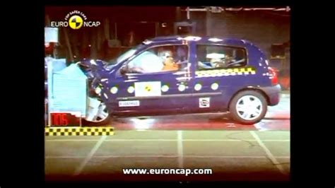renault clio 1 2 3 4 crash test