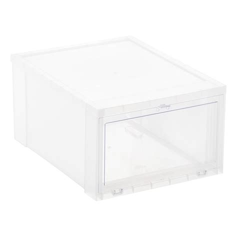 container store shoe storage drop front shoe boxes the container store