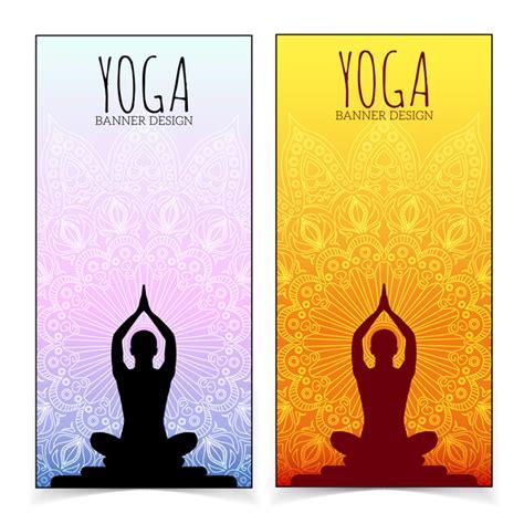 banner design for yoga yoga design banners vector vector banner vector sport