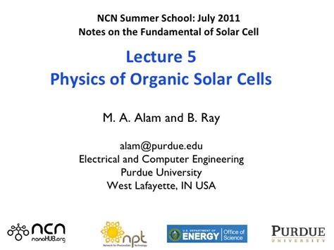 the physics of solar cells perovskites organics and photovoltaic fundamentals books solar cells lecture 5 organic photovoltaics