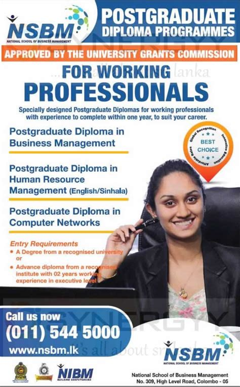 Nsbm Mba by Nsbm Postgraduate Diploma Programmes Applications Calls