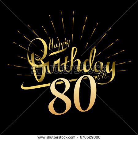 backdrop design for 80th birthday 80th birthday stock images royalty free images vectors