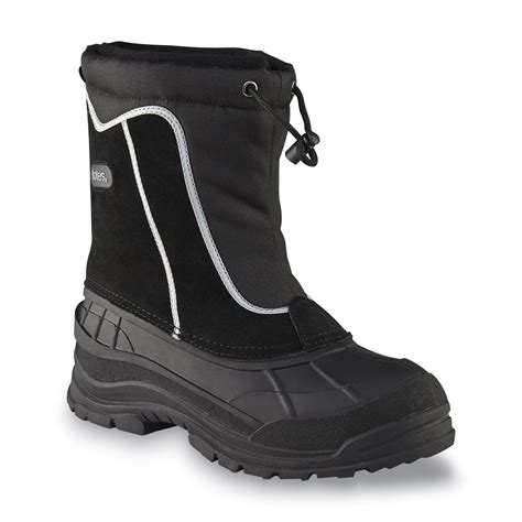 mens winter boots sears totes s juno black waterproof snow boot shop your
