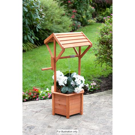 wishing well planter boxes images