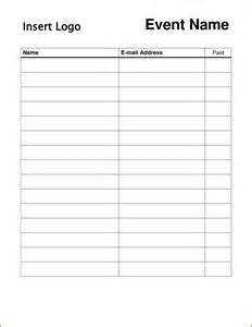salon sign in sheet template 10 printable sign in sheet plantemplate info