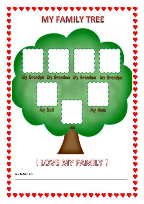 kindergarten family worksheets about me preschool lesson