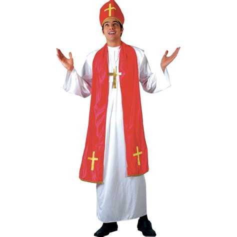 pope costume holy cardinal bishop pope mens fancy dress costume ebay