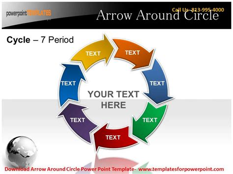 Arrow Around Circle Powerpoint Template Youtube Circle Of Arrows Powerpoint