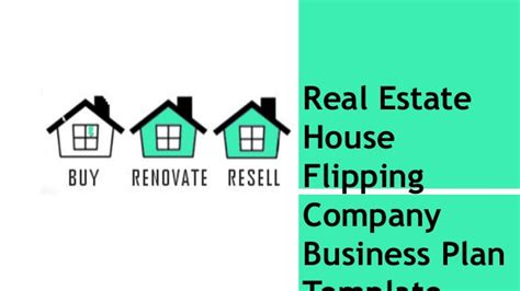 real estate share house real estate house flipping business plan template and start up packa