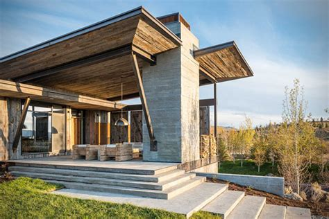 rustic modern house rustic modern vacation home in wyoming hiconsumption