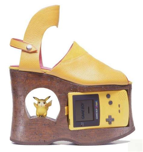 Gameboy Footwear by Gameboy Color Platform Shoes Boing Boing