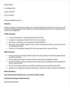 Construction Executive Resume Sles 30 Executive Resume Designs