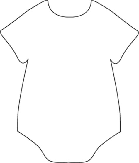 Free Baby Onesie Template onesie black white free images at clker vector