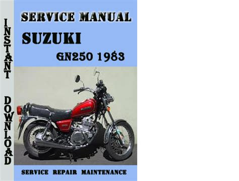 Suzuki Gn250 Workshop Manual Suzuki Gn250 1983 Service Repair Manual Pdf