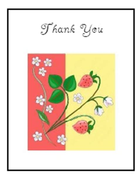 quarter fold thank you card template free printable thank you cards