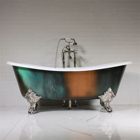 Bronze Bathtub by The Lanercost 73 Quot Cast Iron Bateau Clawfoot Tub