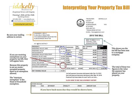Albuquerque Property Records Viewing Your Property Tax Bill Bernalillo County