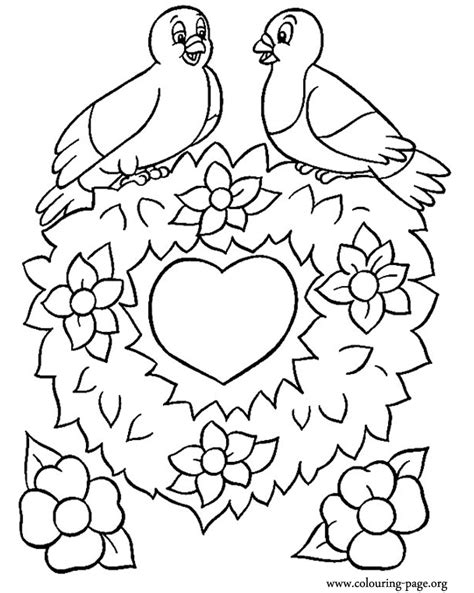 coloring pages of flowers and hearts coloring home