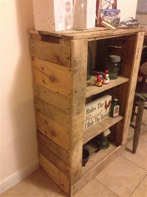 diy pallet shelf unit  storage pallet furniture plans