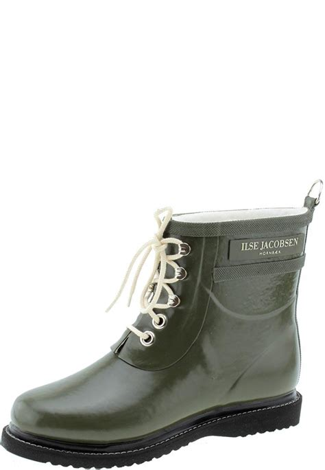 ilse jacobsen rub2 army ankle rubber boots in nordic