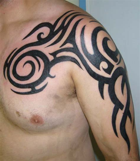 tattoo on arm and shoulder shoulder tribal tattoos for men