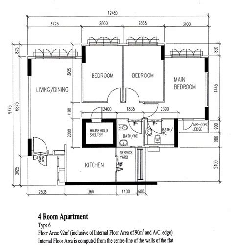 4 room floor plan 4 room layout bto hdb floor plan designs renotalk com