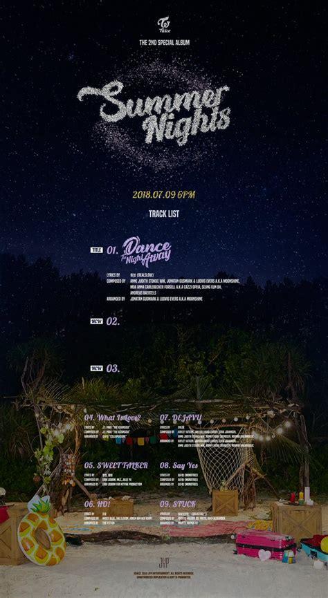 twice dance the night away lyrics twice s upcoming track quot dance the night away quot was written
