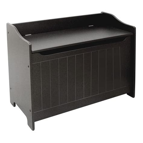 black wooden storage bench catskill craftsmen wooden storage bench in black 89096