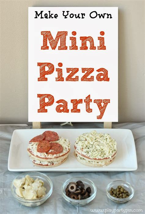make your own mini pie bar play party plan