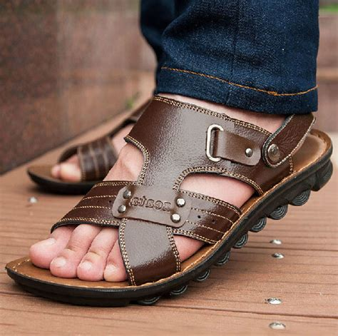best leather sandals free shipping big size 2015 new arrival fashion