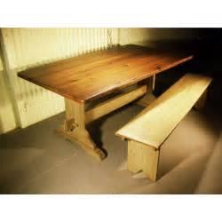 Reclaimed barn wood trestle table 2 quot top breadboard concord trestle