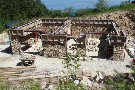 Livingroom Walls Building A Stone And Log House In France