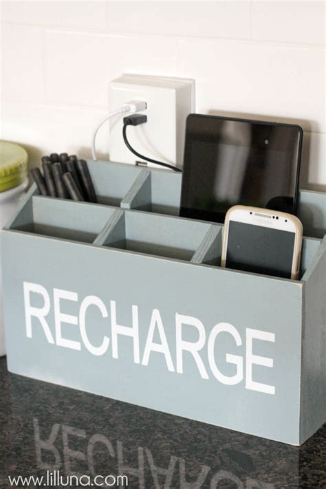 diy home charging station 11 easy diy charging stations for every space shelterness
