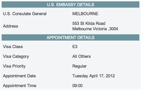 what is appointment letter in us visa application the american the e3 visa process live travel