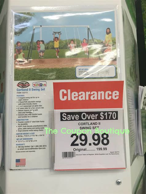 toys r us swing set coupon run cortland ii swing set on clearance for 29 98 at toys