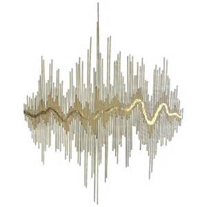 Metal Wall Decor And Sculptures by Quot Sound Waves Quot Metal Wall Sculpture At 1stdibs