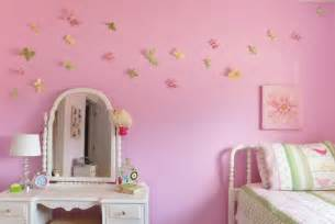 Pink girl butterfly bedroom decoration using white iron girl