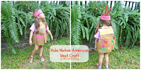 preschool thanksgiving costumes indian vest just one native american kids vest craft