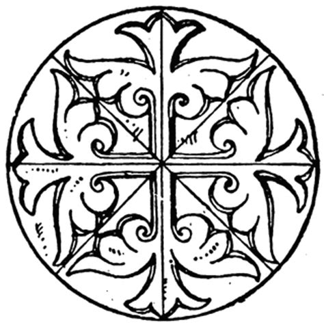 byzantine circular panel clipart etc